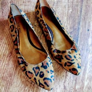 Nine West Leopard Black Brown Flats